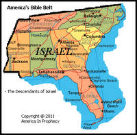map usa bible belt how did the ten lost tribes of israel end up in the bible belt