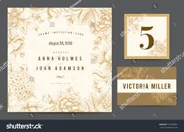 Wedding Invite Card Stock Set Backgrounds Celebrate Wedding Invitation Card Stock Vector