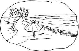 beach pictures color coloring free coloring pages