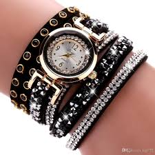 crystal bracelet watches images Hot crystal bracelet watch women silver casual dress watches girl jpg