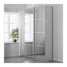 pax wardrobe white auli mirror glass 150x44x236 cm pax wardrobe
