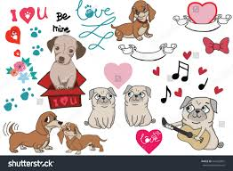 types of dogs selection hand drawn dog lovers selection stock vector 541632007