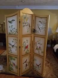 beautiful hand painted trifold room divider new with tags in