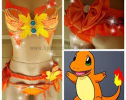 Charmander Halloween Costume Pokemon Pikachu Rave Wear Theme Wear Dance Costume
