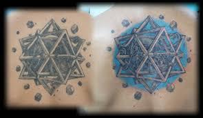 wonderful upper back nice escher star tattoo by adam golfian com