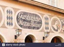 Kaspar Hauser Ansbach Restaurant Kaspar Hauser In Ansbach Franconia Germany Stock Photo