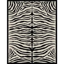 terra zebra woven area rug black and beige walmart com