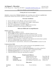 sample resumes for medical assistant jobs cma entry level medical