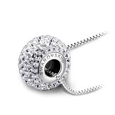 swarovski necklace round images Lovengifts swarovski round glitter pendant necklace color jpg