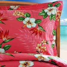 coral birds of paradise duvet cover by designer dean miller