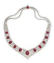 diamond ruby necklace sets images Diamond and ruby jewelry sets diamond jewelry set heere ke jpg