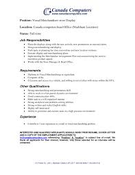 Example Of Job Description For Resume Job Merchandiser Job Description Resume