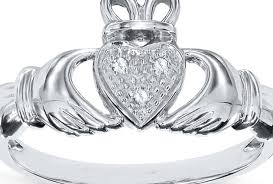 Fascinating Meaning Ring Claddagh Sapphire Diamond Ring P Amazing Irish Claddagh