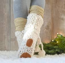 Mountain Chalet Home Plans Mountain Chalet Knit Flat Slipper Boots Favecrafts Com