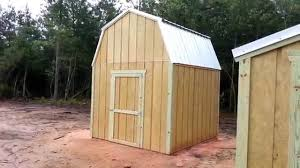 gambrel barn plans 10x10 barn and 6x8 gable shed plans stout sheds llc youtube