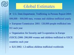 Human Trafficking Estimates by Human Trafficking And Statistics The State Of The Ppt