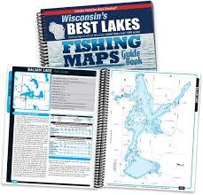 Wisconsin Dnr Lake Maps by Wisconsin U0027s Best Lakes Fishing Maps Guide Book Sportsman U0027s