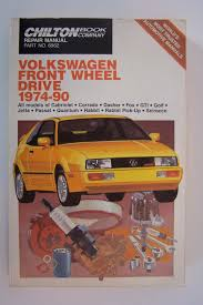 chilton u0027s repair manual volkswagen front wheel drive 1974 90 book