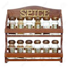 Spice Rack Empty Jars An Old Wooden Spice Rack Isolated On White Background Most Of
