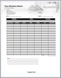 Microsoft Excel Quote Template Dental Consultancy Quote Template Free Quotation Templates