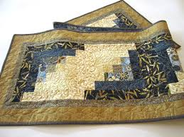Blue And Gold Rug Blue And Gold Quilted Table Runner With Asian Accent U2013 Patchwork
