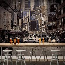 high quality modern desgin vintage streetscape 3d removable wall high quality modern desgin vintage streetscape 3d removable wall mural wallpaper photo self adhesive tv background living room in wallpapers from home