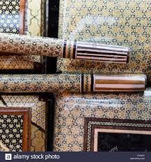 detail of ornamental boxes and canes vakil bazaar shiraz iran
