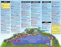 Map Of Epcot Miscellaneous Disney Guidemaps
