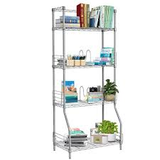 Bookshelf Organization Amazon Com Langria 4 Tier Wire Storage Rack Shelving Unit