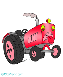 lonely tractor coloring pages kids color print