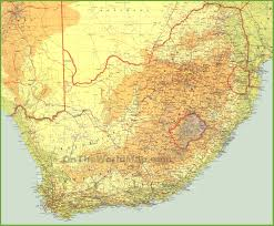 South Africa World Map Large Detailed Map Of South Africa