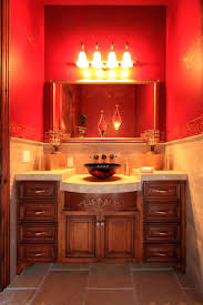 mosaic wood accent wall powder room designs antique vanity