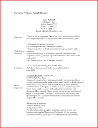 sle format of resume executive assistant sle resume administrative assistant sle