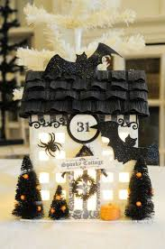 Spooky Village Halloween Decorations by 290 Best Halloween Glitter Houses Images On Pinterest Halloween