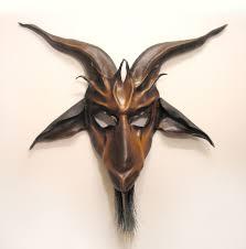 goat head halloween mask satanic goat head mask