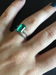 Reset Wedding Ring by Reset Emerald Engagement Ring Originally From The 30s And Newly