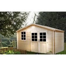 abris de jardin madeira madeira abri de jardin bois sapin emboité 10 18 m achat vente
