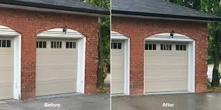 Overhead Door Stop by Stop Repainting The Frames Around Your Garage Doors Cap Them