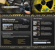 informational website templates paintball club website template id 300110104