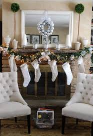 creative christmas decorating ideas fireplace mantel home design