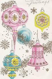 275 best vintage pink christmas cards images on pinterest