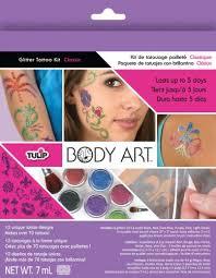 glitter tattoo kits michaels buy the tulip body art face body