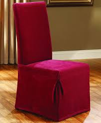 Slipcover Dining Room Chairs Sure Fit Stretch Pique Long Dining Room Chair Slipcover