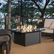outdoor greatroom fire table shop outdoor greatroom company 36 in w 65000 btu absolute black
