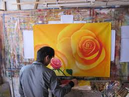 free red rose ic large panel oil painting on canvas kalimah shahadat ready to hang arabic art calligraphy a 002 in painting calligraphy from