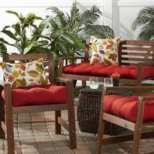 greendale home fashions 51 in outdoor bench cushion salsa