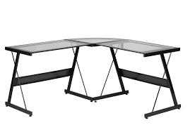 Contemporary L Shaped Desks Contemporary L Shaped Desk Glass Black Sam Levitz Furniture