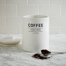 coffee kitchen canisters utility kitchen canisters white elm