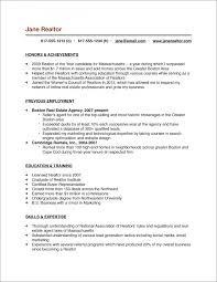Mortgage Broker Resume Sample by Real Estate Salesperson Resume Sample Sample Real Estate Agent