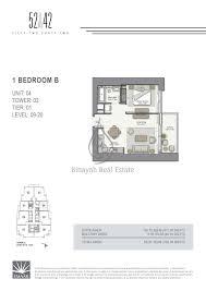 42 1 bedroom apartment floor plan 16